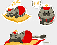 King Cheshire Sticker Pack