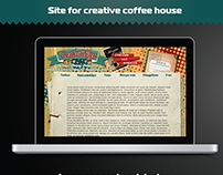 Retro vintage site for coffee house