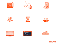 Branded illustrations and icons, Innuva IT Solutions
