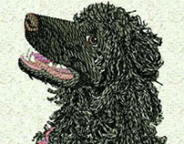 CHARISMATIC FURRY DOG EMBROIDERY DESIGN