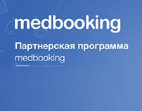 Landing for the affiliate program medbooking