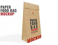 Paper Food Bag Mockup