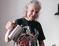 Slayer grandma makes AEROPRESS COFFEE