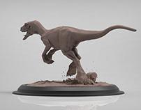 running dinosaur | study