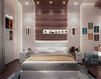 Stylish Modern Bedroom Design and Visualization