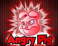 Angry Pig Mascot Logo