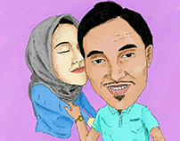 Colored caricature