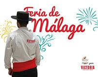 Diseño y producción de PLV para la feria de Málaga.