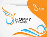 Hoppy Travel Logo, icon Design