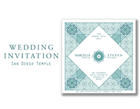 Wedding invitation San Diego CA