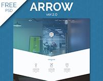 Arrow free one page business portfolio psd template on behance wajeb Choice Image