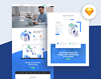 Business Sketch Template & WordPress Demo