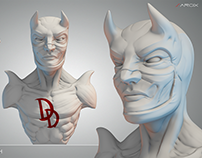 Daredevil sculpt sketch