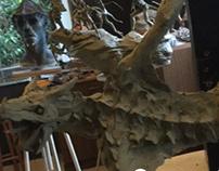 Dragão em clay