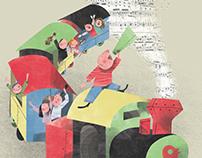 Illustrazione per concerto di LiberaMusica