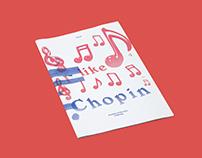 I like Chopin | Risograph printed zine