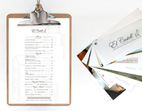 El Castell - Menu & Brochure Design
