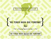 """Traductor de Español a Mujer"" / LTDF (serie web)"