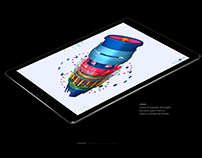 uMake Jet Engine (Featured on iPad Pro Website)