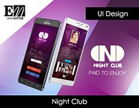 Night Club App Design