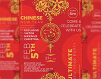 Year of the Pig Celebration Flyer - Seasonal A5 Templat
