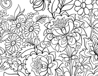 Abstract pattern coloring pages for adult