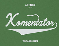 Free Komentator Vintage Script Font