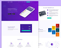 Banking and Crypto Currency Exchange website UI Design