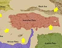 Animation Map of Turkey Break Apart