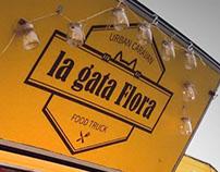 La gata Flora Food Truck Logo Design