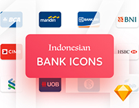 Indonesian Bank Icons [SKETCH FREE DOWNLOAD]