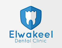 Elwakeel Dental Clinic Logo & Business Card