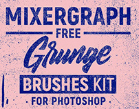 Mixergraph Free Grunge Brushes kit for Photoshop