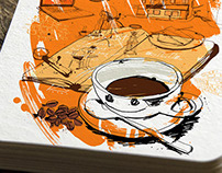 The Home of Honest Coffee: Brand Illustration