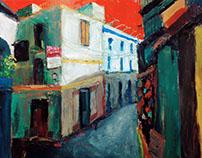 油畫|街景