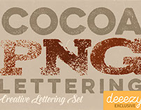 Cocoa - Free PNG Lettering Set