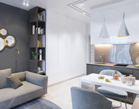 "Smart apartment interior. Kyiv. RC ""Comfort Town"""