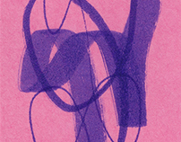 Post-it Abstract Drawings
