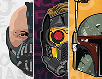 Movie Characters: Vector Art