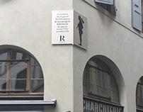 Plaque commémorative - Jean-Jacques Rousseau