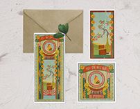 New year cards for Chinese Year of the Rooster