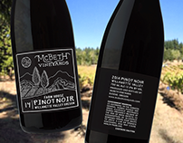 McBeth Vineyards / Label Illustration + Design