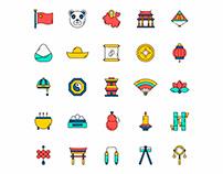 China Icon Set