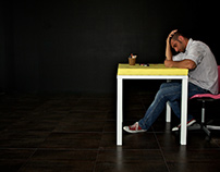 Yellow Paper On White Table