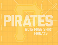 Pittsburgh Pirates 2015 Free Shirt Fridays