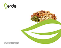 Logo design for Verde - shop with healthly food.