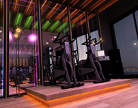 Fitness Center & Spa  Interior Design 2