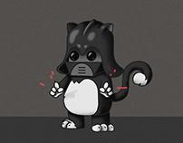 Darth Kitty (Sticker Set)