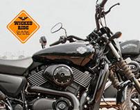 Postcard Illustration   Wicked Ride
