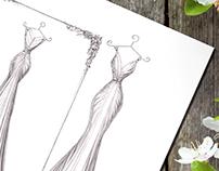 'Lisa' - Wedding Dress Illustration